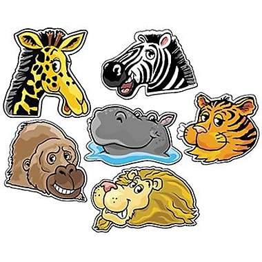 Creative Teaching Press™ 6in. Designer Cut-Outs Variety Pack, Jungle Animals