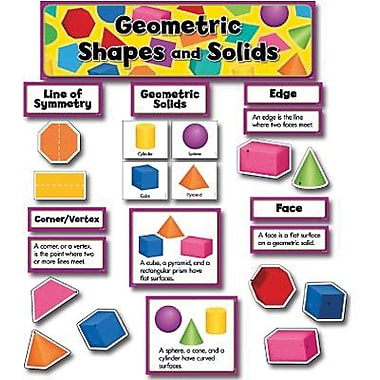 Creative Teaching Press™ Mini Bulletin Board Set, Geometric Shapes and Solids