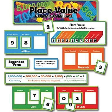 Creative Teaching Press™ Mini Bulletin Board Set, Place Value Decimals To Millions