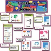 Creative Teaching Press Mini Bulletin Board Set, Fractions and Decimals