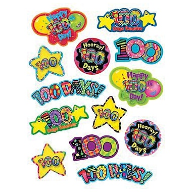 Creative Teaching Press™ Stickers, Hooray 100th Day!