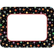 "Creative Teaching Press 6"" Poppin Patterns® Designer Cut-Outs, Dots On Black Cards"