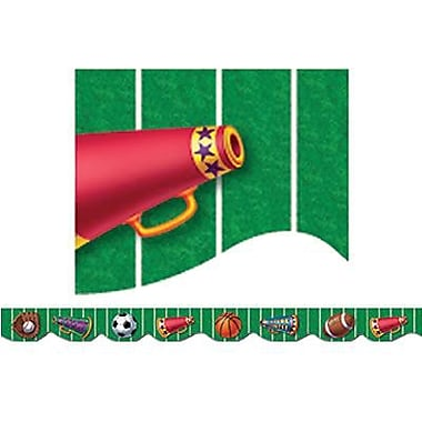 Creative Teaching Press™ pre-school - 12th Grades Scalloped Bulletin Board Border, Sports