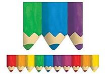Creative Teaching Press™ preschool - 12th Grades Bulletin Board Border, Jumbo Colored Pencils