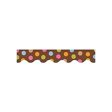 Creative Teaching Press™ Pre School-12th Grades Scalloped Bulletin Board Border, Dots On Chocolate®