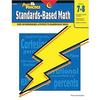Creative Teaching Press™ Power Practice Standards-Based Math Book, Grades 7th -8th