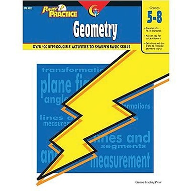 Creative Teaching Press Geometry Power Practice Book, Grades 5th -8th