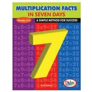 Didax® Multiplication Facts In 7 Days Resource Book, Grades 3rd -4th