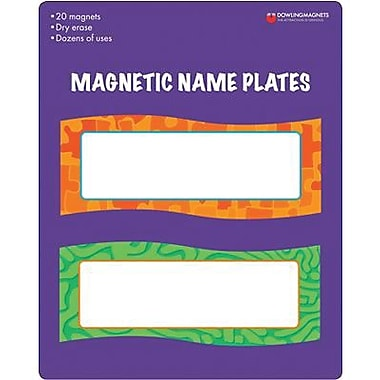 Dowling Magnets® Magnetic Name Plates, 6in. x 2 1/4in.
