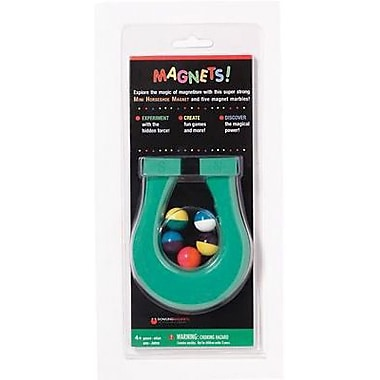 Dowling Magnets® Mini Horseshoe Magnet and 5 Magnet Marbles, 4 1/2