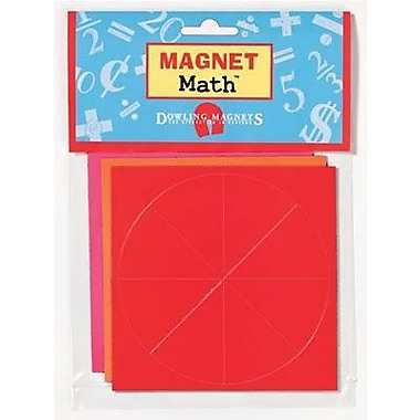 Dowling Magnets® Fraction Circles Magnet, 4in. x 4in.