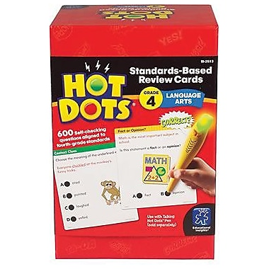 Educational Insights® Hot Dots® Standards-Based Language Arts Card, Grades 4th