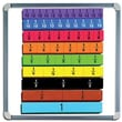Educational Insights® Foam Magnetic Fraction Strip, 51/Set