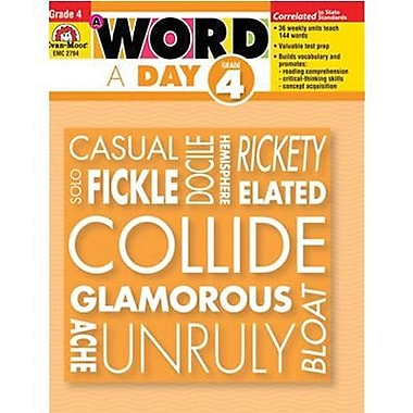 Evan-Moor® A Word A Day Teacher's Edition Book, Grades 4th