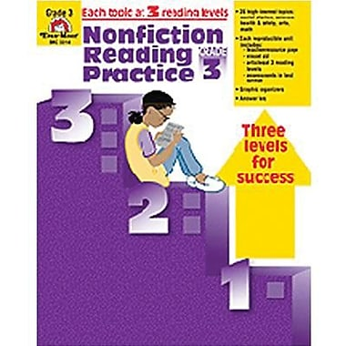 Evan-Moor® Nonfiction Reading Practice Book, Grades 3rd