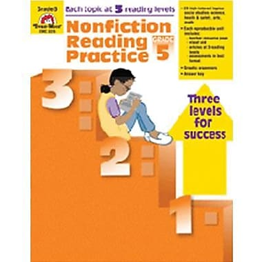 Evan-Moor® Nonfiction Reading Practice Book, Grades 5th