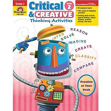 Evan-Moor® Critical and Creative Thinking Activities Teacher Resource Book, Grades 2nd