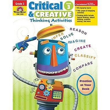 Evan-Moor® Critical and Creative Thinking Activities Teacher Resource Book, Grades 3rd