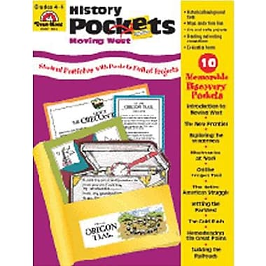 Evan-Moor® History Pockets Moving West Resource Book, Grades 4th - 6th