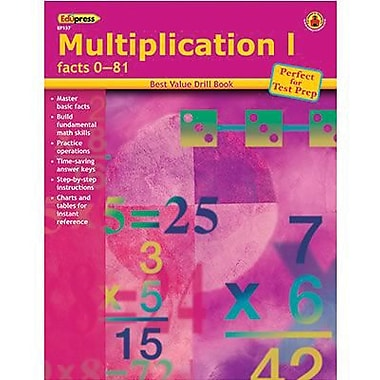 Edupress® Best Value Multiplication I -Facts 0-81 Drill Book, Grades 2nd -6th