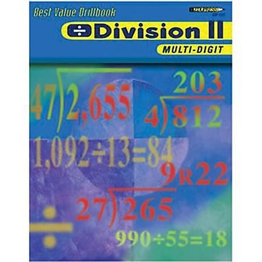 Edupress® Best Value Division II -Multi-Digit Drill Book, Grades 2nd -6th