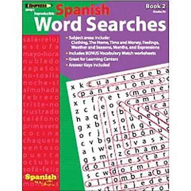 Edupress® Spanish In A Flash™ Word Searches Book 2, Grades 3+