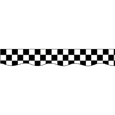 Edupress® pre-school - 12th Grades Scalloped Simply Border, Black, White Checks