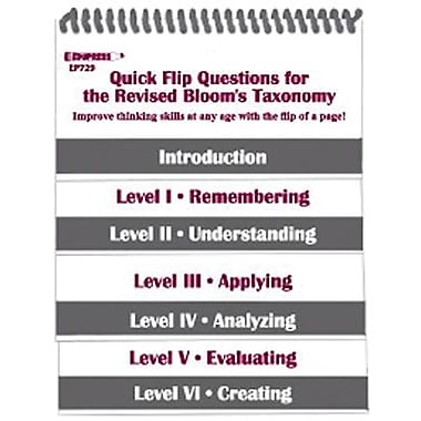 Edupress® Quick Flip Questions Book For The Revised Bloom's Taxonomy Questions, Grades 5th - 12th