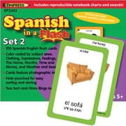 Edupress® Spanish In A Flash Color-Coded Flash Card Set 2, Grades 3+