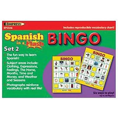 Edupress® Spanish In A Flash™ Bingo Game Set 2, Grades Kindergarten - 3rd