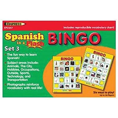 Edupress® Spanish In A Flash™ Bingo Game Set 3, Grades Kindergarten - 3rd
