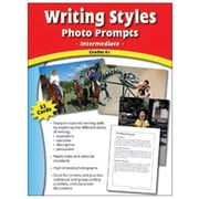 Edupress® Writing Styles Photo Prompts Card, Grades 4th+