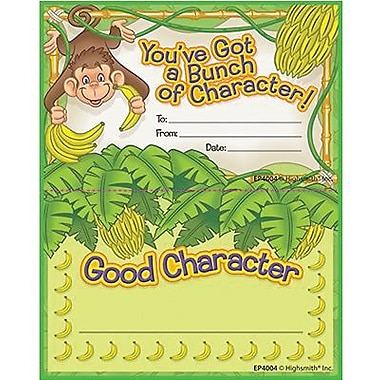 Edupress® Punch Card Incentive Awards, Good Character