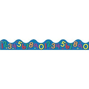 Eureka® pre-school - 5th Grades Scalloped Deco Trim, Colorful Numbers On Blue