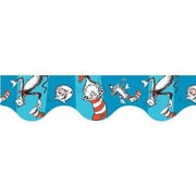 Eureka® Cat In The Hat™ pre-school - 8th Grades Scalloped Deco Trim, Blue