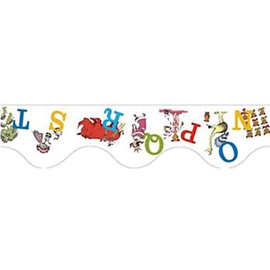 Eureka® Dr. Seuss™ pre-school - 8th Grades Scalloped Deco Trim, ABC's