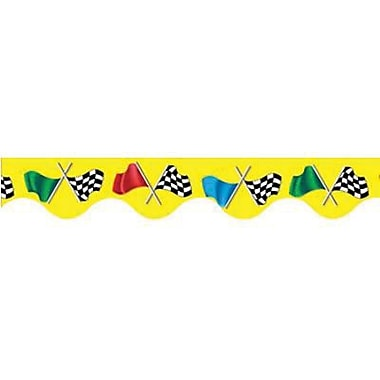 Eureka® pre-school - 12th Grades Scalloped Deco Trim, Checkered Flag