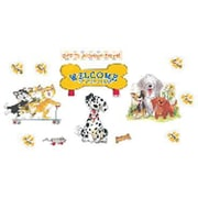 Eureka® Bulletin Board Set, Wags and Whiskers Paw Print Welcome