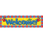 Eureka® Toddler - 12th Grades Colorful Classroom Banner, Welcome