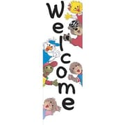 Eureka® Suzy's Zoo® Toddler - 3rd Grades Vertical Banner, Suzy's Zoo Welcome