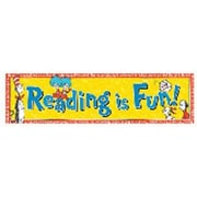 Eureka® Cat In The Hat™ pre-school - 6th Grades Colorful Classroom Banner, Reading Is Fun