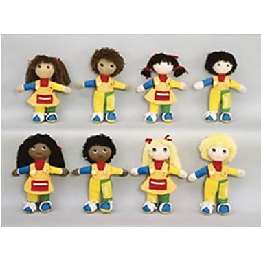 Childrens Factory® Learn To Dress African American Girl Black Doll, Size: 14 1/2in.