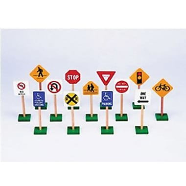 Guidecraft® Block Play Traffic Signs, 7in.