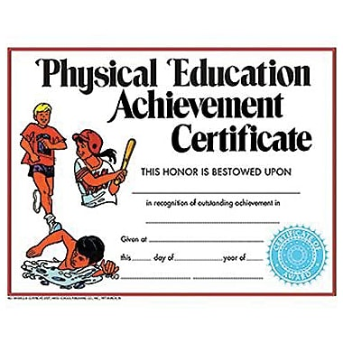 Hayes® Physical Education Achievement Certificate, 8 1/2in.(L) x 11in.(W)