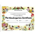 Hayes® Assorted Border pre-kindergarten Certificate, 8 1/2in.(L) x 11in.(W)