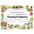 Hayes® White Border pre-school Diploma Certificate, 8 1/2in.(L) x 11in.(W)