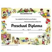 "Hayes® White Border pre-school Diploma Certificate, 8 1/2""(L) x 11""(W)"