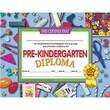 "Hayes® Assorted Border pre-kindergarten Diploma Certificate, 8 1/2""(L) x 11""(W)"