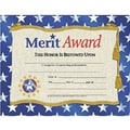 Hayes® Gold Border Merit Award Certificate, 81/2in. x 11in., 30/Pack