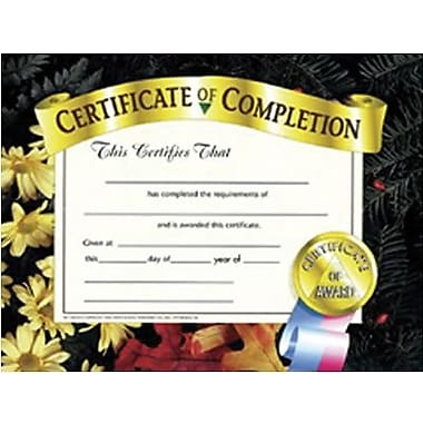 Hayes® Certificate of Completion, 8 1/2in. x 11in., Grades 1st - 9th